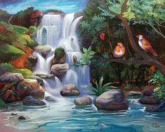 pintura de paisagens - Pesquisa Google