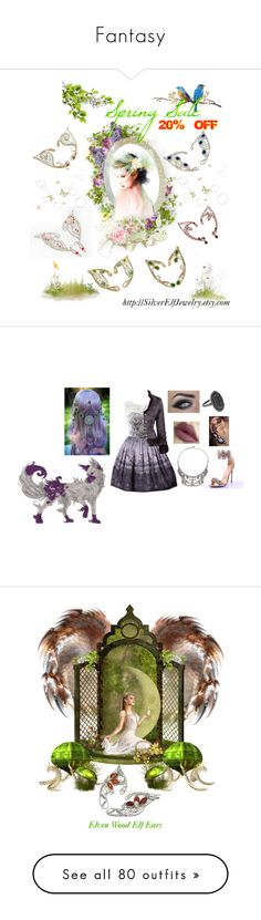 """""""Fantasy"""" by lyriel-moonshadow ❤ liked on Polyvore featuring Kimberly McDonald, DANNIJO, Steve Madden, Greenleaf, Johnathan Kayne, Manolo Blahnik, WithChic, Dsquared2, WALL and modern"""