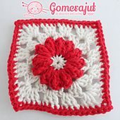 Ravelry: Popcorn Flower Granny Square pattern by Stephane Gomerajut