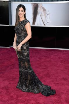 Sandra Bullock wears ELIE SAAB Haute Couture Spring Summer 2013 to the 85th Annual Academy Awards.