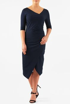 with cap sleeves, a lower neckline and higher hemline this dress would be great