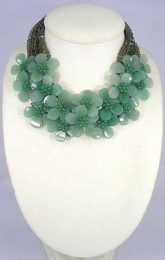 beadwork necklacebib necklacestatement by audreyjewelry on Etsy, $49.50
