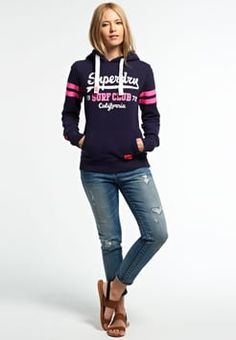 Superdry - SURF CLUB ENTRY  - Sweat à capuche - rinse navy