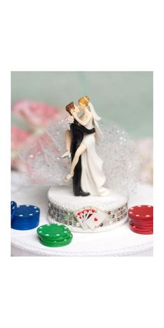 Funny Sexy Las Vegas Wedding Cake Topper by weddingcollectibles, $39.95