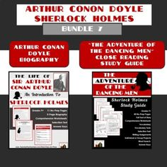 """Students first examine the fascinating life of Sir Arthur Conan Doyle, the creator of Sherlock Holmes. Then they enjoy a close reading of a famous of Holmes short story, """"The Adventure of the Dancing Men."""" Save time and money! Click here for your copy. Reading Resources, Teacher Resources, Secondary Resources, English Resources, School Resources, Middle School, High School, History Classroom, Writing Assignments"""