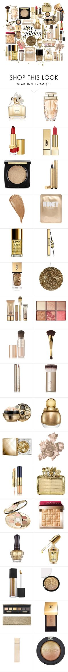"""Untitled #238"" by hallierosedale ❤ liked on Polyvore featuring beauty, Marc Jacobs, Cartier, Estée Lauder, PUR, Lancôme, Yves Saint Laurent, Kevyn Aucoin, Lapcos and NYX"