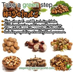 """""""Go nuts"""" with hazelnuts. The more, the better!"""