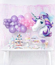 Magical Unicorn Boxes - Magical Unicorn Boxes girls magical unicorn themed birthday party idea and inspiration decoration set up Unicorn Themed Birthday Party, 1st Birthday Parties, 2nd Birthday, Birthday Table, Unicorn Birthday Decorations, Birthday Ideas, Unicorn Party Decor, Flamingo Party, Birthday Quotes