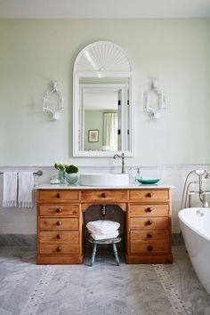 Wooden vanity, with