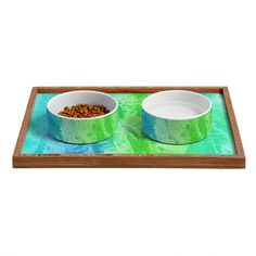 Laura Trevey Caribbean Sea Pet Bowl and Tray | DENY Designs Home Accessories