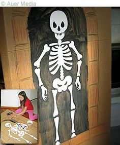 Halloween crafts, Halloween decoration, a large printable skeleton