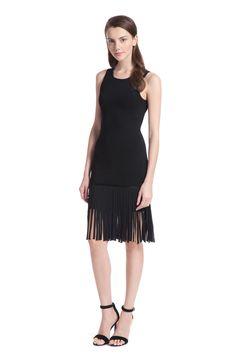 Knit Fringe Nicoletta Sweater Dress