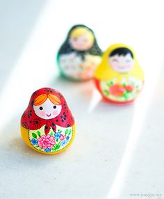 Polymer clay matryoshka dolls by {JooJoo}, via Flickr