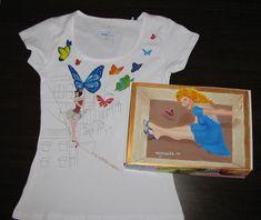 handpainted tshirt and giftbox Hand Painted, Mens Tops, T Shirt, Painting, Women, Fashion, Supreme T Shirt, Moda, Tee Shirt