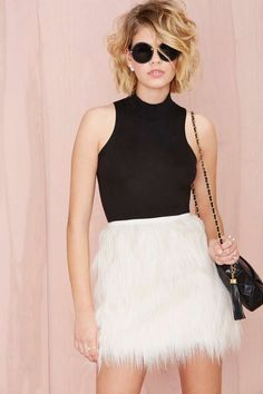 Faux Fur Real Skirt