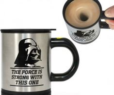 Star Wars Darth Vader Self Stirring Mug – There's no need to stir yourself when you use the force.