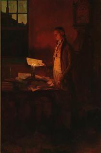 Thomas Jefferson Writing the Declaration of Independence - Howard Pyle