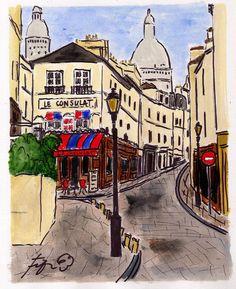 Le Consulat, Montmartre, Paris, France, Fifi Flowers