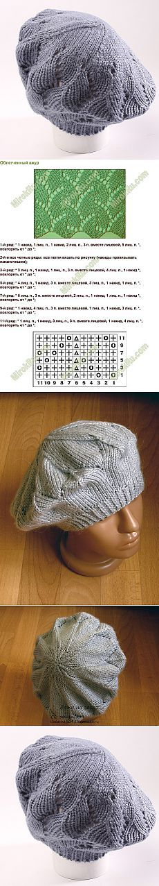 takes the spokes Knitting Stiches, Knitting Charts, Lace Knitting, Knitting Patterns, Knit Crochet, Crochet Patterns, Crochet Hats, Knitting Accessories, Crochet Designs