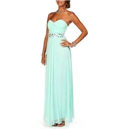 Macaria- Mint Beaded Prom Dress