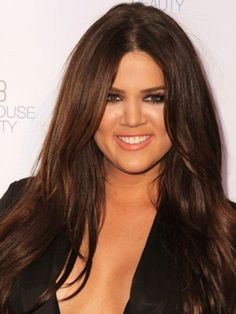 Celebrities with Chocolate Brown Hair Color - Pint Medium Dark Brown Hair, Light Brown Hair, Chocolate Brown Hair Color, Chocolate Hair, Chocolate Kisses, Brown Hair Shades, Brown Hair Colors, Hair Colour, Khloe Hair