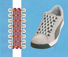 Increíbles Formas de atar los cordones de tu calzado deportivo.
