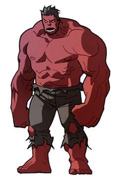 tiny Red Hulk by *marciotakara on deviantART Superhero Images, Superhero Design, Superhero Movies, Avengers Cartoon, New Avengers, Hulk Marvel, Marvel Comics, Red Hulk, Marshall