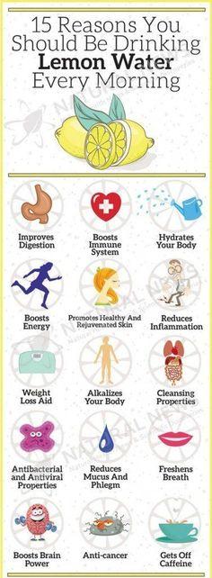 natural health benefits of drinking lemon water