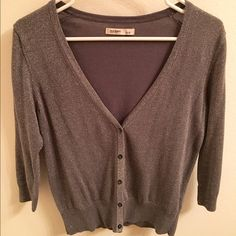 Old Navy Sparkly Cardigan This cardigan is super sparkly and fun! dark gray color with lots of sparkles, perfect for a night out! Size small Old Navy Other