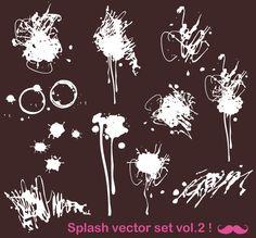 Free Vector Paint Splats | free ink splatter vector free download