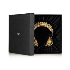 Dolce & Gabbana's ornate headphones are crafted in collaboration with California-based brand Frends. Crown Headphones, Cute Headphones, Tech Accessories, Fashion Accessories, Metallic Leather, Cute Jewelry, Bling, Cool Things To Buy, Luxury