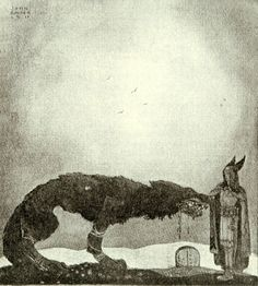 Tyr and Fenrir by John Bauer, 1911