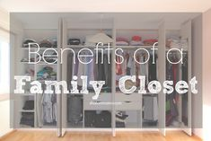 4 Benefits of Creating a Family Closet - Shalom Mama This is something I've been wanting to try.