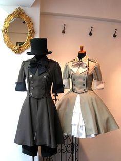Steampunk Fashion, Victorian Fashion, Gothic Fashion, Couple Outfits, Dress Outfits, Fashion Outfits, Gothic Mode, Gothic Lolita, Alternative Mode