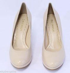 Enzo-Angiolini-Dixy-Light-Natural-Closed-Toe-Womens-Platform-Pumps-Size-6-5-W348