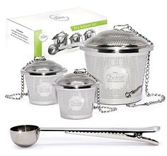 Tea Infuser Set by Chefast (2+1 Pack) - Premium - http://freebiefresh.com/tea-infuser-set-by-chefast-21-review/