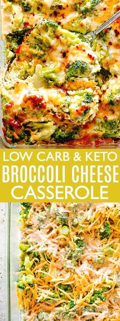 Broccoli Cheese Casserole - A creamy and savory Broccoli Cheese Casserole prepared with fresh broccoli and a seasoned cheddar and cream cheese sauce. This is a Low Carb, Keto-Friendly dish that's ALWAYS a crowd favorite! Broccoli Cheese Casserole Easy, Chicken Broccoli Cheese, Vegetable Casserole, Keto Casserole, Broccoli With Cheese Sauce, Keto Chicken, Casserole Dishes, Oven Baked Broccoli, Broccoli Bake