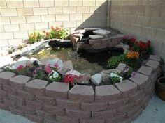 Ideas above ground garden boxes diy 2020 Patio Pond, Diy Pond, Ponds Backyard, Backyard Landscaping, Garden Pond, Water Garden, Indoor Pond, Outdoor Ponds, Zen Garden Design