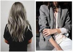 Znalezione obrazy dla zapytania grey hair tumblr