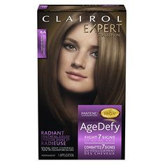 Clairol Age Defy Expert Collection 6A Hair Color Kit, Light Ash Brown