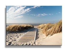 North Sea Beach on Langeoog. Path to the beach on Langeoog through the dunes wit , Arte Lds, Beach Wall Murals, Wall Art, Framed Wall, Poster Mural, The Beach, Beach Boardwalk, North Sea, Baltic Sea