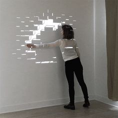 Simple 3D Mapping- Interactive- Aakash Nihalani- http://www.eyescreamsunday.com/post/122502419784/passage