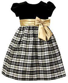 Jayne Copeland Little Girls Velvet Plaid Dress - Black 5 Little Girl Christmas Dresses, Toddler Christmas Dress, Girls Christmas Dresses, Little Girl Dresses, Girls Dresses, Toddler Girl Outfits, Toddler Dress, Toddler Fashion, Kids Outfits