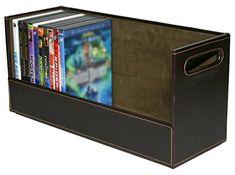 Stock Your Home Stackable DVD Storage Organizer & Movie Media Home Storage Box for DVD/BluRay/Video Game Shelf Storage & Organization - Holds 28 DVDs- Chocolate #Stock #Your #Home #Stackable #Storage #Organizer #Movie #Media #DVD/BluRay/Video #Game #Shelf #Organization #Holds #DVDs #Chocolate