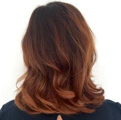 Womens haircut  elumen henna haircolor