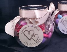 Personalised wedding favour jars with or by CraftsandCreations1