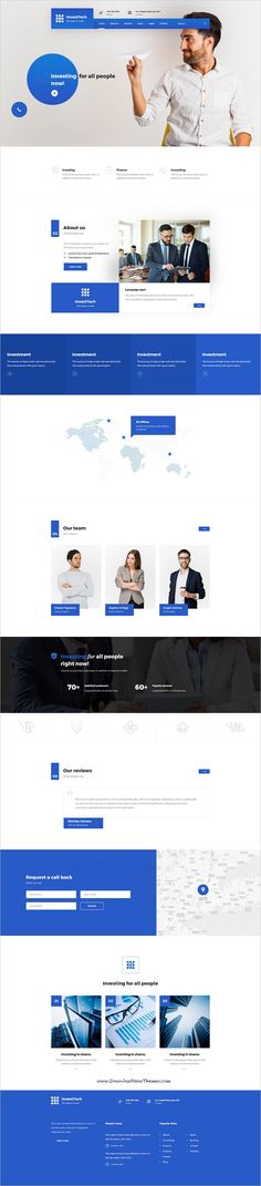 InvestTech is clean and modern design #PSD template for onepage #corporate business #website to live preview & download click on Visit