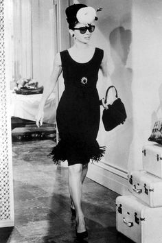 Audrey Hepburn, 1961, in character – and Givenchy! – as the resolutely fabulous Holly Golightly of Breakfast At Tiffany's fame.