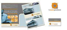 Effepiauto S.r.l. - Logo FP Auto Pratesi, biglietto da visita e cartellina portadocumenti. Realizzazione: Agenzia Verde