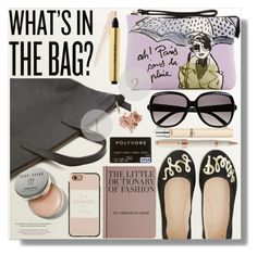 """""""Whats In The Bag"""" by myfashionwardrobestyle ❤ liked on Polyvore featuring izak, Kate Spade, Bobbi Brown Cosmetics, Casetify, Hachette Book Group, Chloé, Yves Saint Laurent and Montegrappa"""